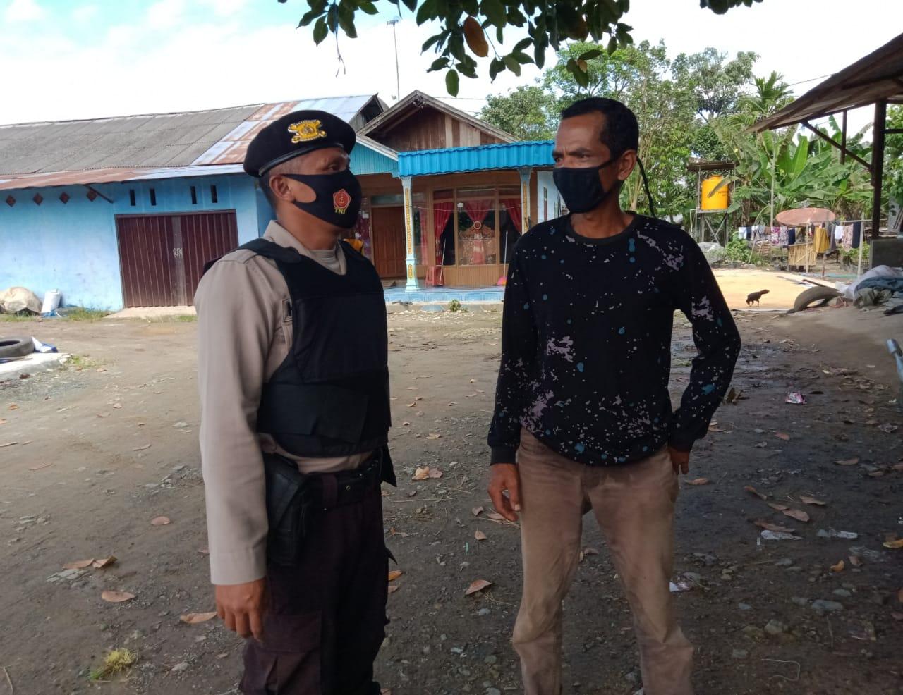 Polsek Kapuas Timur Tak Pernah Bosan Imbau Warga Cegah Penyebaran Covid-19