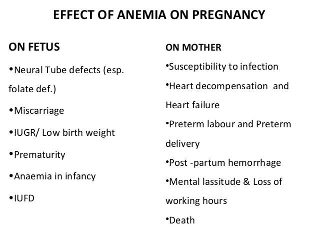 how to fix anemia during pregnancy
