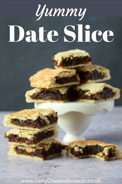 Grab the #DateSliceRecipe over on the blog.  It's an #EasyRecipe perfect for #LunchBoxIdeas or #PicnicTreats as well as being a great #homemade #AfterSchoolTreat.