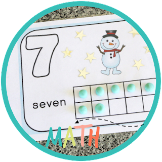 snowman playdough mat - kindergarten math