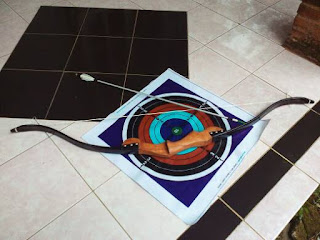 Busur Panah PVC WoodBow Standar Club Archery