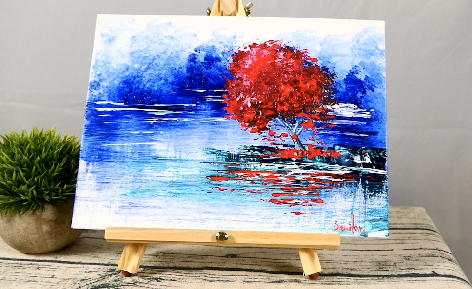Paintings Watercolor Painting With Qcrylic Coating Fantasy Landscape Elegant In Style