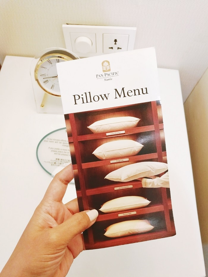 pillow menu, hotels and resorts, lifestyle, wellness, Pan Pacific Manila, Raffles Makati,