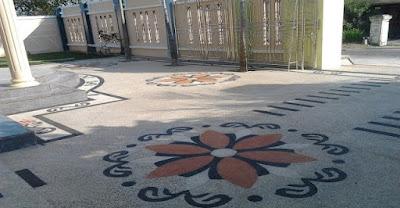 Jasa Batu Sikat - Gambar Foto Batu Sikat Motif Bunga