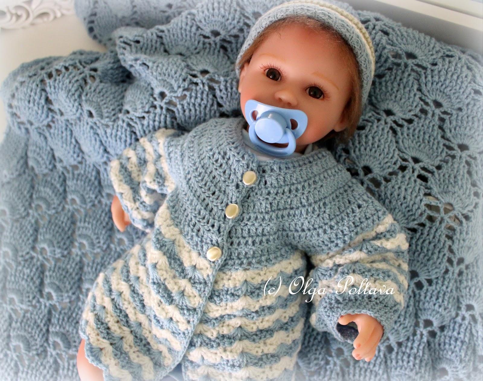 fb1052295 Lacy Crochet  Newborn Baby Crochet Sweater