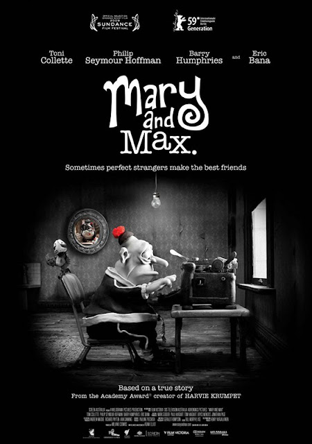 Cartel de la película de animación en stop motion Mary and Max