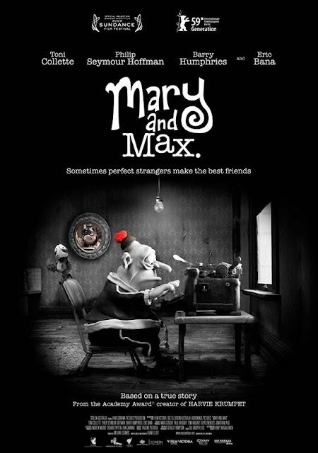 Cartel de la película de animación en stop motion Mary and Max