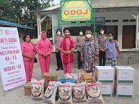 Sambut HUT Polwan Ke-73 dan HKGB Ke-69 Tahun, Bhayangkari Sergai Santuni Kaum Dhuafa