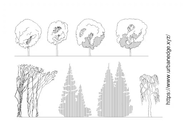 Sketching trees dwg cad blocks download - 5+ Tree autocad sketches