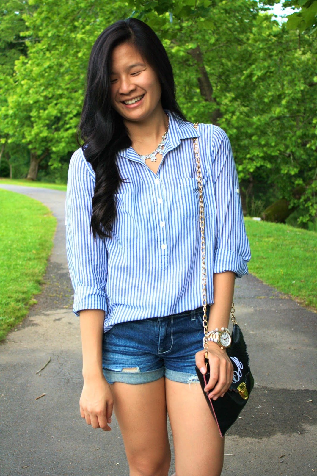 Pinstriped button down