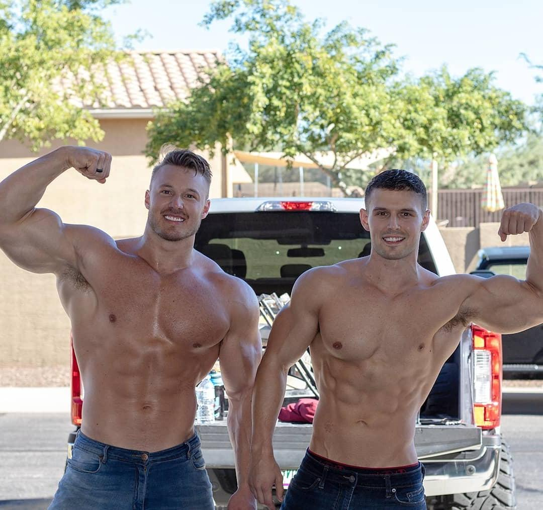 two-american-muscle-bros-flexing-huge-biceps-swole-sexy-shirtless-bodies