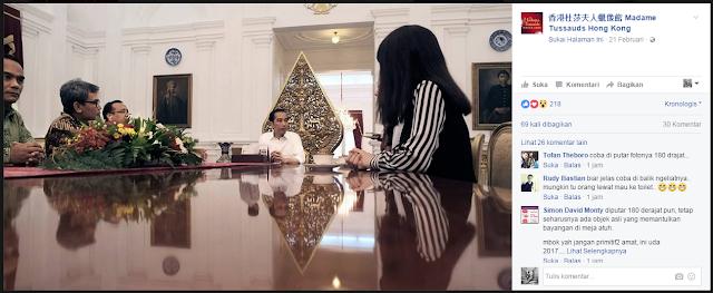 Bayangan Presiden Jokowi yang Penuh Misteri Saat Bertemu dengan Madame Tussaud