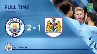 Manchester City vs Bristol City 2-1 EFL Cup Highlights