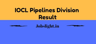 IOCL Pipelines Division Result 2017