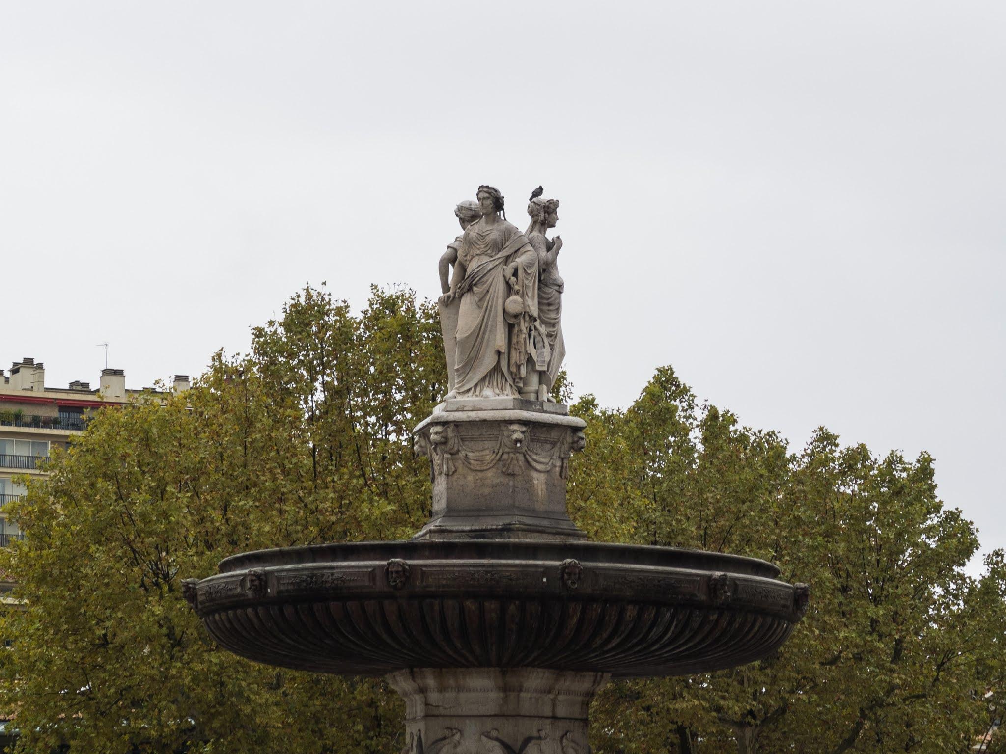 Fontaine de la Rotonde at the bottom of Cours Mirabeau in Aix-en-Provence.