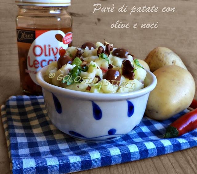 Purè di patate con olive e noci