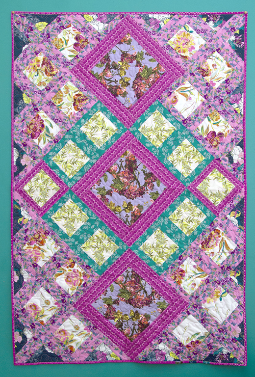 Upstage Quilt designed by Bari J. of Live art gallery fabrics, featuring Virtuosa Collection