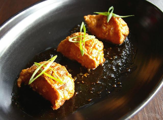 Susie Wong, fried ginger prawn wonton