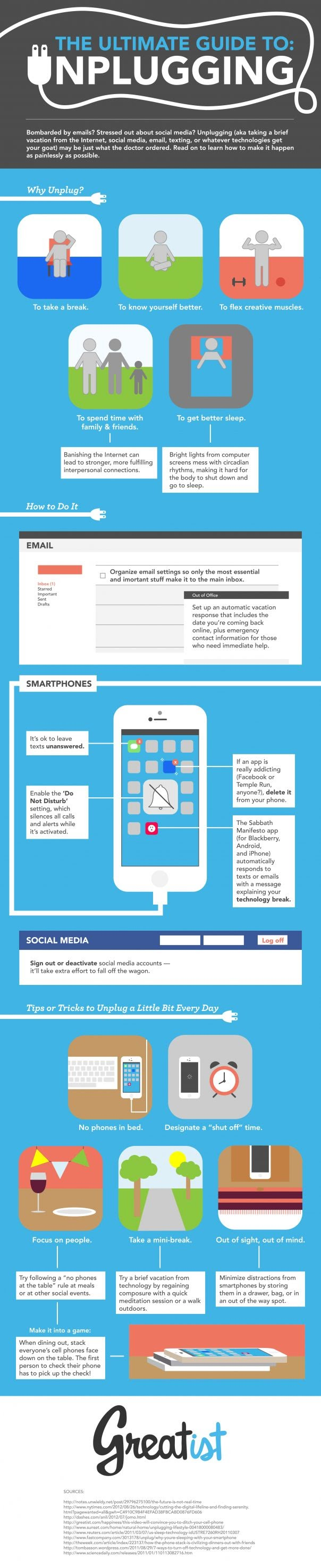 The-Ultimate-Guide-to-Unplugging #Infographic