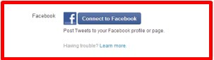 how to connect twitter account to facebook page