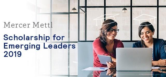 Mercer Mettl Scholarship for Emerging Leaders 2019 (worth $2,000)