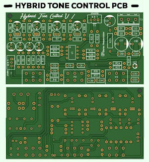 Stereo Hybrid Tone Control PCB Layout Design