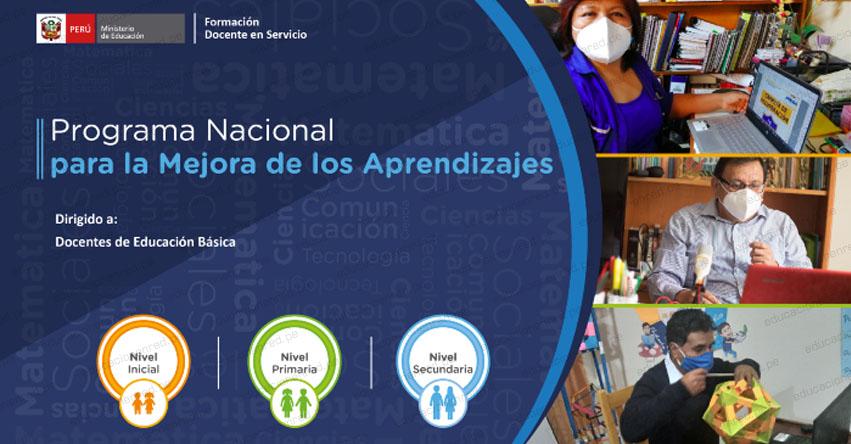 ATENCIÓN MAESTROS: Participa del Programa Nacional para la Mejora de los Aprendizajes [CRONOGRAMA MINEDU]