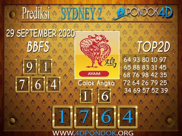Prediksi Togel SYDNEY 2 PONDOK4D 29 SEPTEMBER 2020