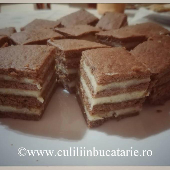 Prajitura cremoasa cu foi de cacao