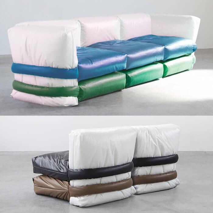 Pillow sofa particolare seduta