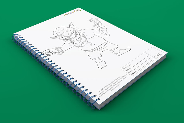 printable clash of clans goblin template outline coloriage coloring pages book pdf pictures to print out for kids to color fun teens boys toddler preschool kindergarten adults