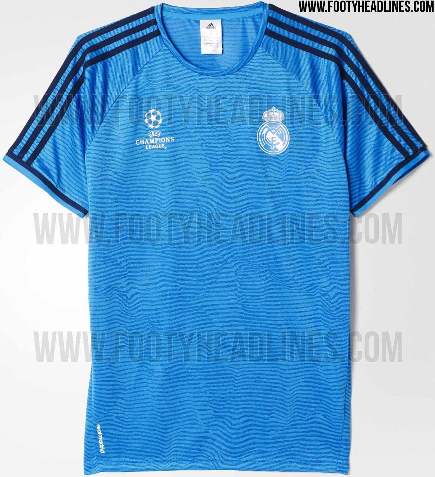b37e9460fa2f0 La camiseta de entrenamiento del Real Madrid 2015 16 será azul ...