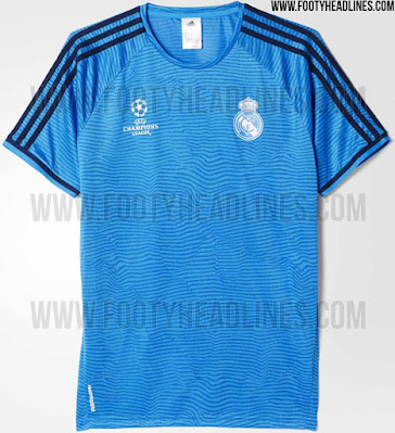 6388de722 Real Madrid 15-16 Champions League Training Shirt Leaked - Footy ...
