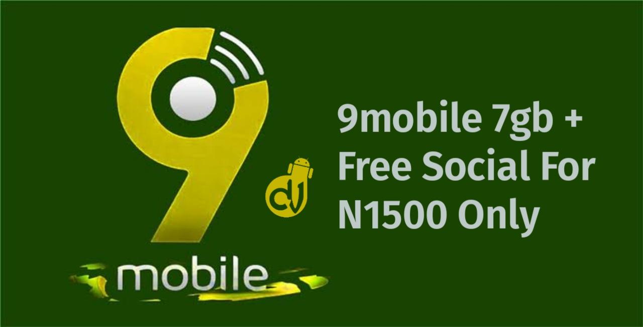 9mobile 7gb - free social