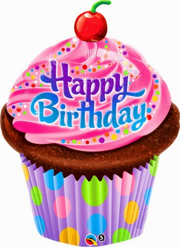 Фольгированный шарик тортик С Днем рождения