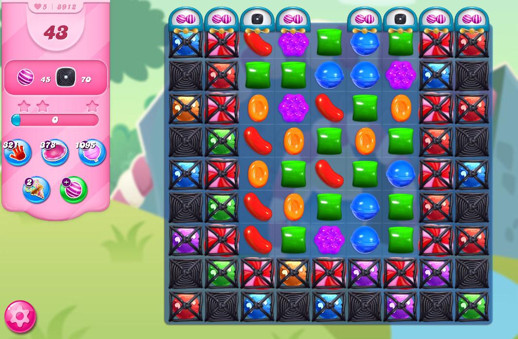 Candy Crush Saga level 8912