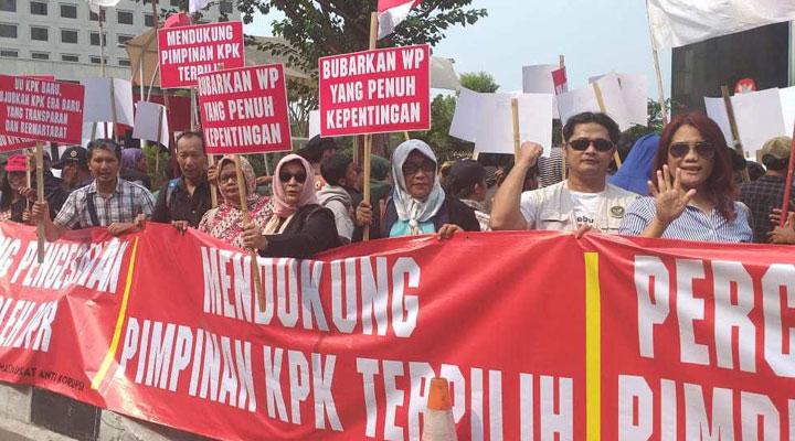 Dukungan Masyarakat Kepada Pimpinan KPK Terpilih