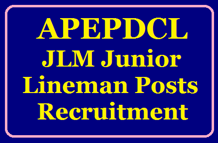 APEPDCL JLM Junior Lineman Posts Recruitment 2019 Apply Online at apeasternpower.com/2019/07/APEPDCL-JLM-Junior-Lineman-Posts-Recruitment-2019-Apply-Online-at-apeasternpower.com.html