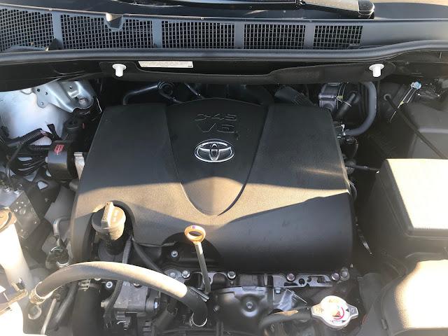 Engine in 2020 Toyota Sienna