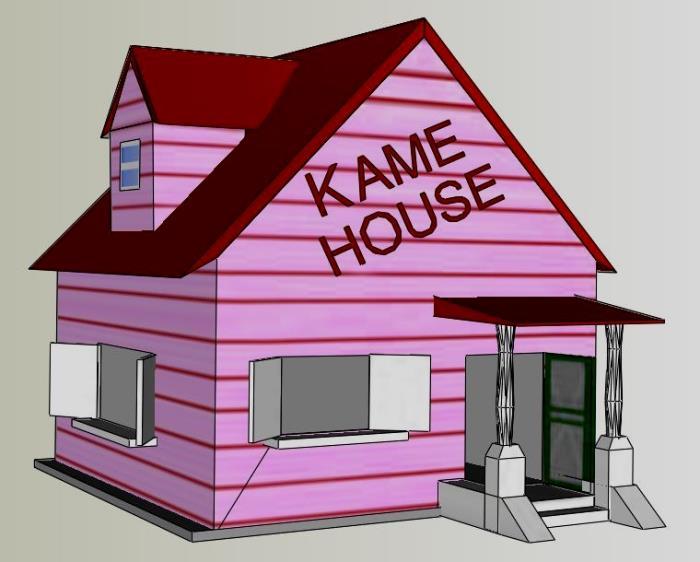 Papermau Dragon Ball Z Kame House Paper Model By Jo 227 O