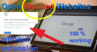how to open blocked sites in pakistan