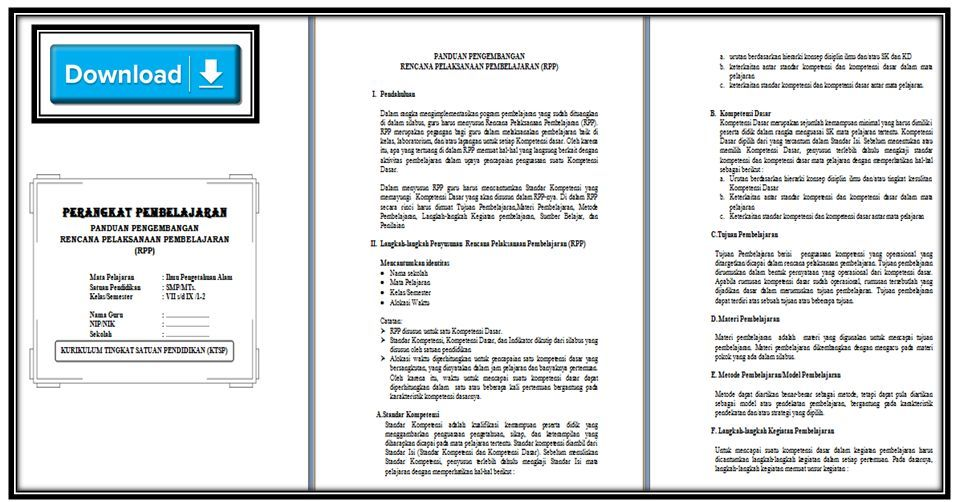 Rpp Ipa Ktsp 2006 Kelas 7 8 9 Semester 1 Amp 2 Doc Terbaru Tahun 2018 2019 Info Guru Terbaru