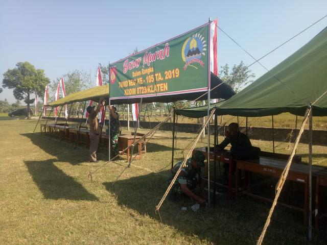 Pembukaan TMMD Reg 105 Akan Diisi Juga Bazar Untuk Warga