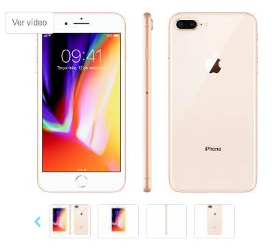 iPhone 8 Plus Apple 64GB Dourado 4G