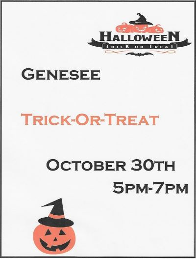 10-30 Trick or Treat, Genesee, PA