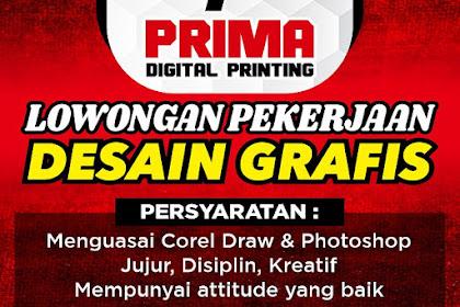 Lowongan Kerja Prima Digital Printing Tasikmalaya