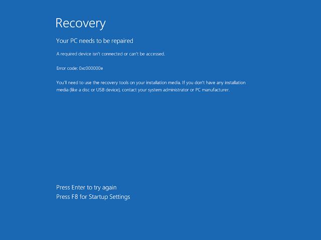沉思的伊文: 如何修復Windows 10 丟失UEFI引導 (bootloader)無法開機?使用Windows 10 1909 修復示範