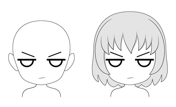 Mencentang ekspresi wajah anime chibi