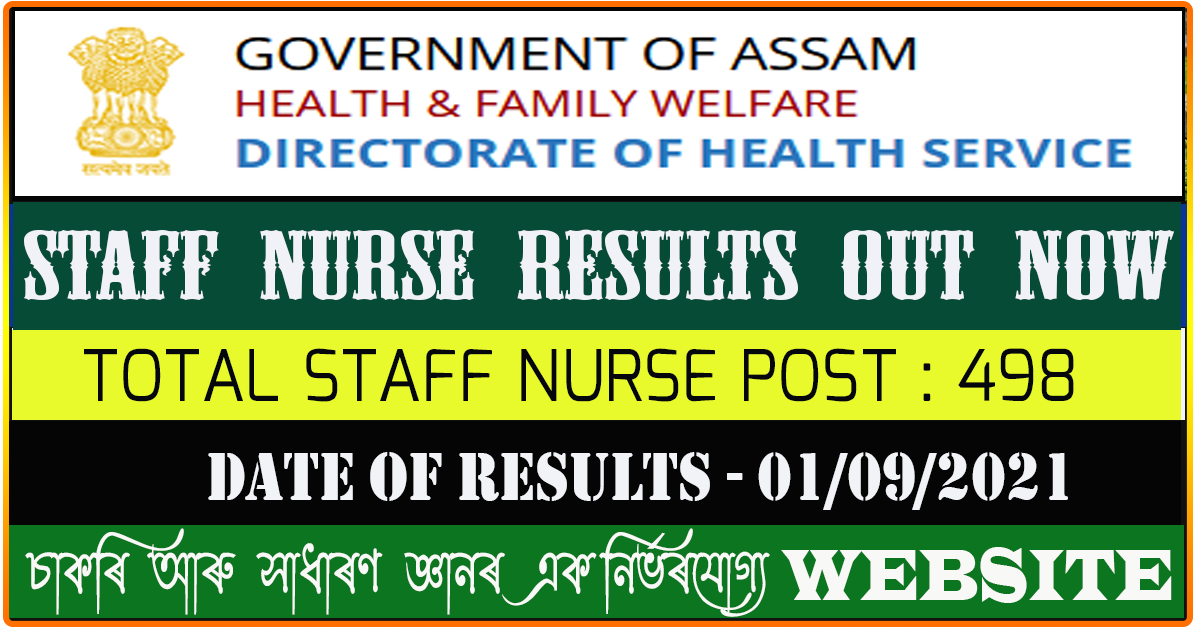 DHS Staff Nurse Recruitment Results for 498  Vacancies Out Now