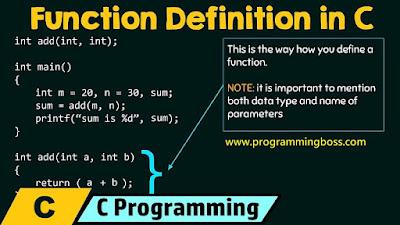 function in C programming